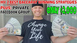 Christopher Mitchell Baccarat Winning Strategies- Martingale & Flat Betting Systems ONLY $2,000.