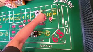 Craps strategy.  Can you hit 3 box # before a 7? If so you should never lose.