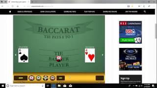 Baccarat Winning Strategies with Money Management 2/19/19