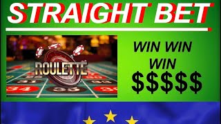 ROULETTE STRATEGY THAT WINS | Straight Bet European Roulette Wheel Strategy