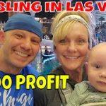 Christopher Mitchell Gambling In Las Vegas $8,000 Profit Using Baccarat Winning Strategies.