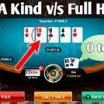 4 of A Kind v/s Full house| poker game play | Rk expert