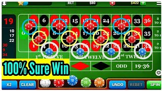 100% Sure Win Strategy to Roulette  | Best Betting Sequence to Win Roulette