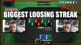 The longest loosing streak in Twitch history ending with a win against a Legend I HS Poker spin&go