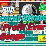 Baccarat CoinFlip Strategy | 10% Profit Everyday Challenge – Day 3