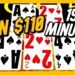 WIN $110 IN JUST 15 MINUTES WITH THIS BLACKJACK BETTING SYSTEM!