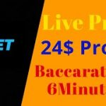 Just 24$ Profit In 9minute..Fantastic Tricks To Work In Baccarat || Income Ground