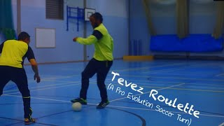 Football skills: Carlos Tevez Roulette Turn – Beat any defender 1v1]Tutorial