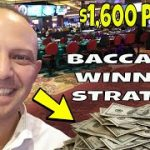 Professional Gambler Makes $1,600 With Baccarat Winning Strategy At Rivers Casino In Pittsburgh.