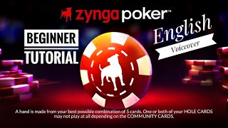 Poker for Beginner // English Voiceover // Zynga Poker 2020