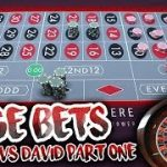 HUGE BETS!! LIVE ROULETTE BATTLE – Timmy Vs. David
