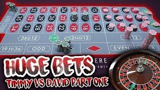 HUGE BETS!! LIVE ROULETTE BATTLE – Timmy Vs. David