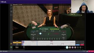 Baccarat Winning Strategy – $10 to $1000 Flat Betting – Live Session #8