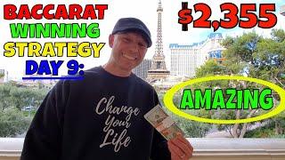 Christopher Mitchell Baccarat Winning Strategy Day 9- $2,355 Cash Profit At Las Vegas Casino's.