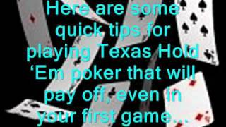Tips for Playing Texas Hold Em Poker And Winning Easily