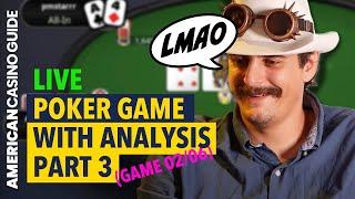LATE NIGHT POKER – WATCH & LEARN Texas Hold 'Em | Split Pots SUCK! | 02/06 PT3