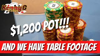Poker Vlog – $1,200 POT WITH A SET!!! EVERY POT IS HUGE!?!?! (Deep Stacked $1/$2) Stupid BIG ACTION!