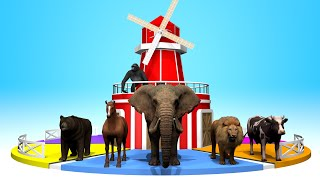 Learn Animals & Numbers & Colors | with Roulette Corral | Happy Kids TV