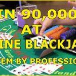 BLACKJACK Best Online Strategy: HUGE WIN IN CASINO!!