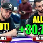 POT! ALL-IN! +$30,755 for Ramsey in WILD PLO Cash Game! ♠ Live at the Bike! Poker Stream