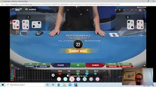 "Baccarat Winning Strategies "" LIVE PLAY "" with M.M. By Gambling Chi 10/27/20"