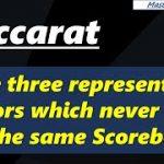 Baccarat, the three representative factors which never allow the same Scoreboards