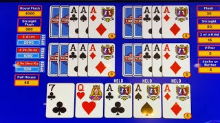 $500 for each Ace… SUPER TRIPLE PLAY.