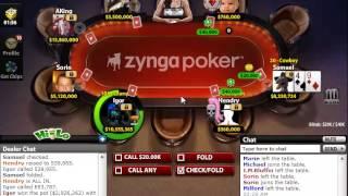 Zynga Poker Nosebleeds Strategy ($8 million)