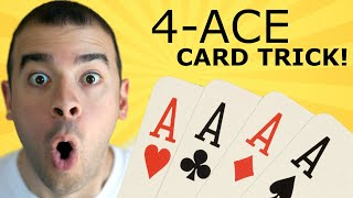 Learn This Cool Four-Ace Poker Trick – Easy Card Tricks No Sleight of Hand