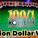 100/1 ODDS ROULETTE. HOW TO WIN AT WILLIAM HILL FOBT. MILLION DOLLAR WIN AT WILLIAM HILL