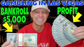 Gambling In Las Vegas- Christopher Mitchell's Baccarat Strategy Makes $1,200 In 53 Minutes.