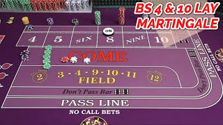 UNLIMITED COCKTAILS – LAY BET MARTINGALE 4 & 10 Craps System