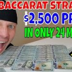 """Christopher Mitchell """"NEW"""" Baccarat Winning Strategy Makes $2,500 In Only 24 Minutes."""