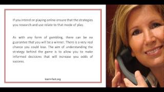 The Advantages Of Learning Blackjack Strategies