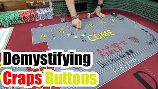 Working Bets & Buttons Raw CEG Dealer School Craps Class #5 (Short Version)