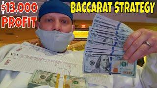 Christopher Mitchell Baccarat Strategy & Sports Betting Makes $13,000 Cash Profit.
