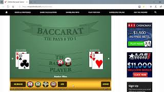 Baccarat Winning Strategies with M.M. 5/24/19