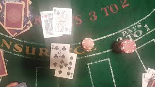 DOUBLE DECK BLACKJACK (STAY 14s 15s 16s ) system #8 -$300 into +$50
