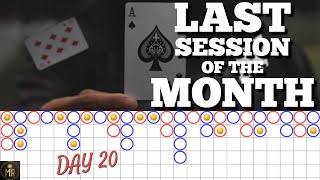 DAY 20 | LAST Baccarat Session of the MONTH before RESULTS! Can we end on a positive note?