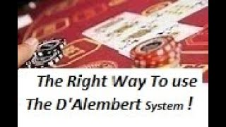 How to Beat Baccarat Using The D'Alembert  System CORRECTLY !!!