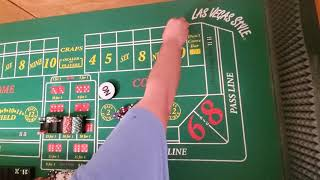 Craps strategy.  Anything bit 10, with random shooters.