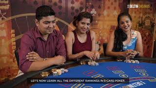 Learn To Play | 5 Card Poker | Deltin Casinos
