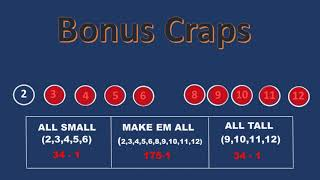 Bonus Craps All Small All Tall & Make Em All Strategy  [How to win a beach vacation playing Craps ]