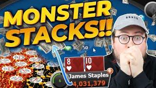 Big ChipStacks 530 Big Game and 300 KO! | Pokerstaples Stream Highlights