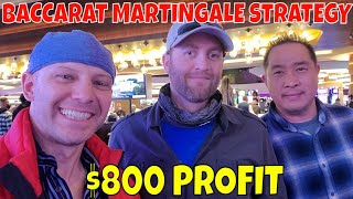 Baccarat Martingale Strategy- Christopher Mitchell Makes $800 Profit Gambling In Las Vegas.
