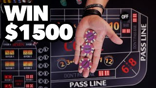 Turn $200 into $1500 at Craps with minimal risk