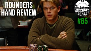 """Rounders"" poker hand analysis! Live poker strategy with Detroit Poker Vlog #65!"