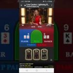How i played Lightning Baccarat and lots of winning.
