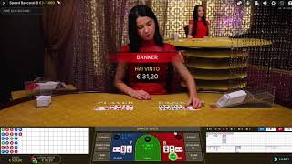 LIVE SPEED BACCARAT – Table B with my System