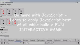 JavaScript DOM Game Blackjack JavaScript Game from Scratch – learn Game Development